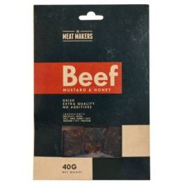 Meat Makers Beef Jerky Mustard & Honey 40g