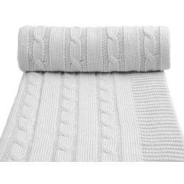 Dětská pletená deka, šedá