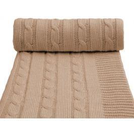 Dětská pletená deka, béžová
