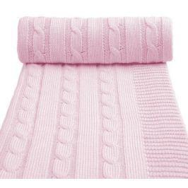 Dětská pletená deka, růžová