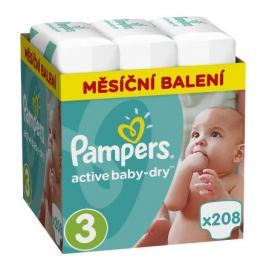 Pampers Active Baby Monthy Box S3 208ks