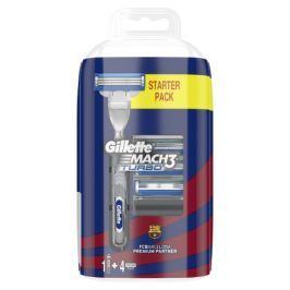 Gillette Mach3 Turbo Pánský Holicí Strojek + Holicí Hlavice, 4 ks