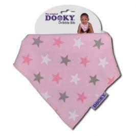 Dooky bryndáček Dribble Bib Pink Star