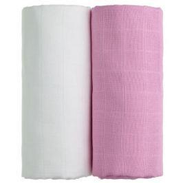 Látkové TETRA osušky 100 x 90, sada 2 ks, bílá + růžová