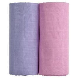 Látkové TETRA osušky 100 x 90, sada 2 ks, růžová + fialová