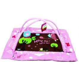 Hrací deka s mantinelem a hrazdou Sova růžová Hrací deky s hrazdou