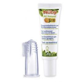 Zubní pasta pro děti 20g + kartáček na prst 4m+