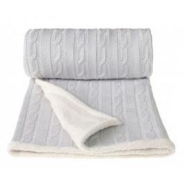 Pletená deka, šedá