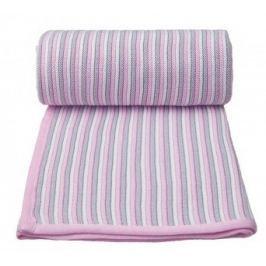 Pletená deka, bílo - růžová