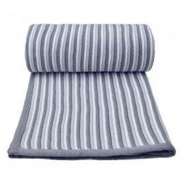 Pletená deka, bílo - šedá