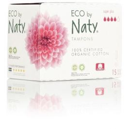 Dámské ECO tampóny Naty (15 ks) - super plus