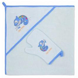 Dětská osuška s žínkou Bobas Fashion Chameleon modrá