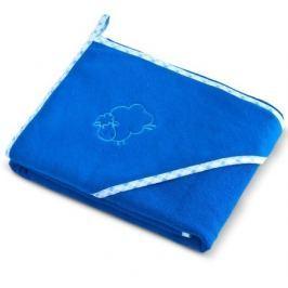 Dětská osuška Sensillo Ovečka 80x80 cm modrá