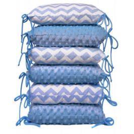 Polštářkový mantinel, blue / zig-zag
