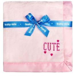 Dětská plyšová deka Baby Mix Cute růžová