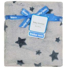 Dětská oboustranná deka Baby Mix šedá s hvězdičkami