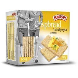 KNUSPI CRISPBREAD 150g 3 druhy sýra