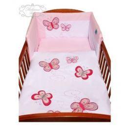 3-dílné ložní povlečení Belisima Motýlek 90/120 růžové