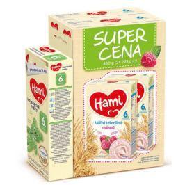 Hami kaše Super Cena 2x225g ml.rýž.malina + Hami6+