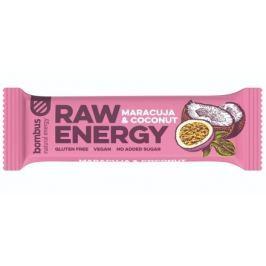 Bombus, tyčinka RAW energy, maracuja&coconut, 50 g