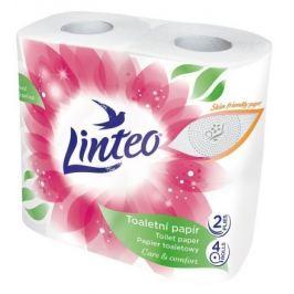 Toaletní papír LINTEO 4 role, bílý, 2-vrstvý