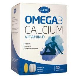 LYSI Omega-3 + D a Calcium 30 denních dávek Vápník