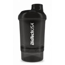BiotechUSA Wave+ Nano shaker 300ml (+150ml) Panther Black