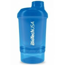 BiotechUSA Wave+ Nano shaker 300ml (+150ml) Schoking Blue