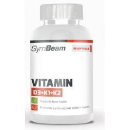 GymBeam Vitamin D3+K1+K2 unflavored - 120 kaps