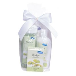 Kappus Gingo Ginkgo biloba sprchový šampon 250 ml + tělové mléko 200 ml + mýdlo 125 g dárková sada