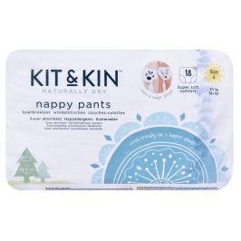 Kit & Kin Kit & Kin ekologické plenkové kalhotky (pull-ups), velikost 6 (18 ks), 17kg+