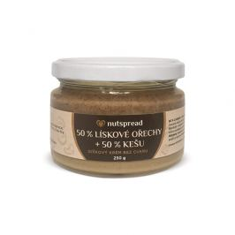Nutspread 100% dvoubarevné lískooříškové máslo s kešu Nutspread 250 g