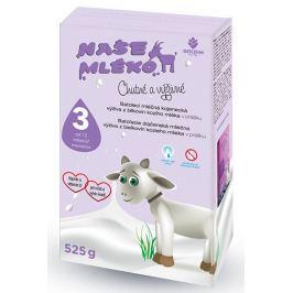 Goldim Naše mléko 3 batol. výživa z kozího mléka 12 m + 525 g