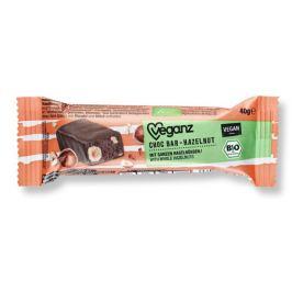 Veganz Čokoládová tyčinka s nugátem, Bio 40 g