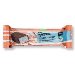 Veganz Čokoládová tyčinka s kokosem, Bio 40 g