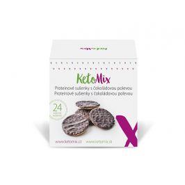 KetoMix Proteinové sušenky s čokoládovou polevou (24 sušenek)