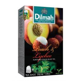 Dilmah Čaj černý, Broskev, Lychee 20 ks