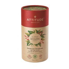 ATTITUDE Přírodní tuhý deodorant Super leaves - červené vinné listy  85 g