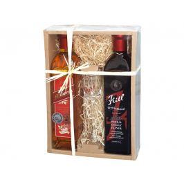 Kitl Dárkový baliček pro muže (životabudič pro muže, medovina+sklenička)