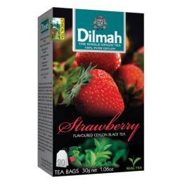 Dilmah Čaj černý, Jahoda 20 ks Zdravá výživa