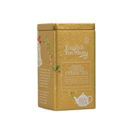 English Tea Shop Vánoční plechovka 15 hedvábných pyramidek - Coffee Cream Čaje a kávy