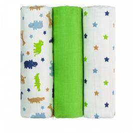 T-tomi Látkové TETRA pleny 70 x 70 cm 3 ks Green crocodiles / zelení krokodýli