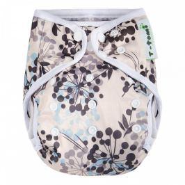 T-tomi Svrchní kalhotky (4 - 15 kg) Grey flowers / šedé kytky