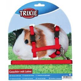 Trixie postroj s vodítkem pro morčata 21-35cm x 10mm x 1,25m