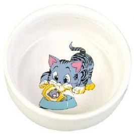 Miska (trixie) keramická MALOVANÁ /kočka/motiv 0,3/11cm