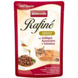 Animonda cat kapsa Rafiné 100g - Drůbež/králík/šunka Krmivo a vitamíny pro kočky