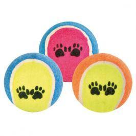 Trixie pes Míč tenisový barevný s tlapkou 6,5cm