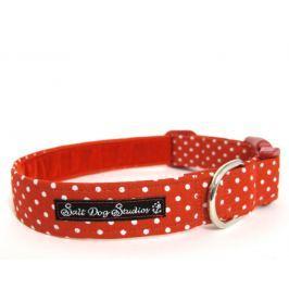 Obojek RED polka dot DOLLY - 17-28 / 2 cm