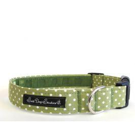 Obojek GREEN polka dot DOLLY - 17-28 / 2 cm