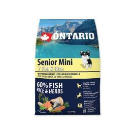 ONTARIO dog SENIOR MINI fish - 6,5kg